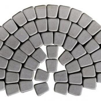 Тротуарная плитка КЛАССИКО КРУГОВАЯ серый