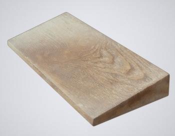 Накрывной элемент на забор односкатный бетонный